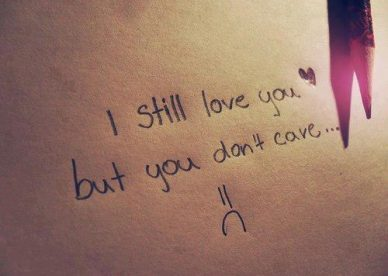 Sad Love, You Dont Care