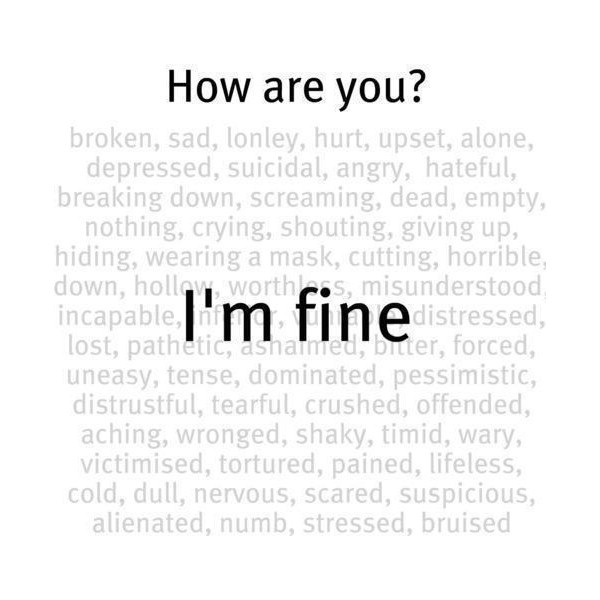 Sad Quotes, I'm Not Fine